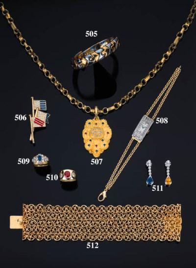 Bracciale in oro e acciaio, fi