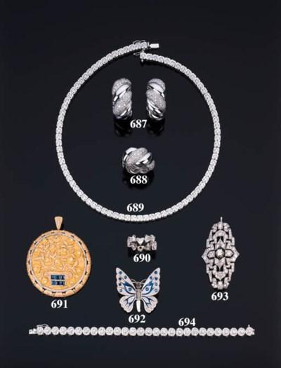 Spilla pendente in oro con zaf