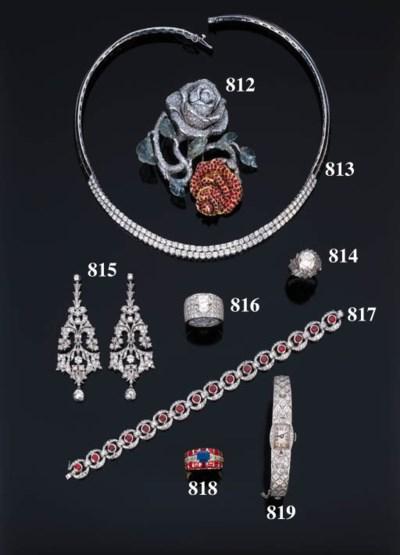 Orologio art-dco in brillanti