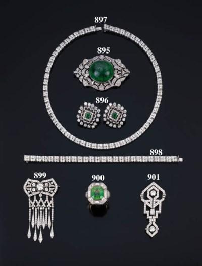 Spilla art-dco in diamanti