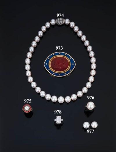 Bella collana in perle coltiva