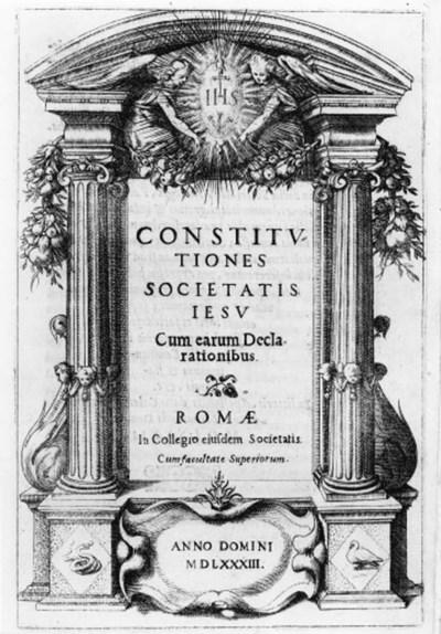 [GESUITI.] Costitutiones Socie
