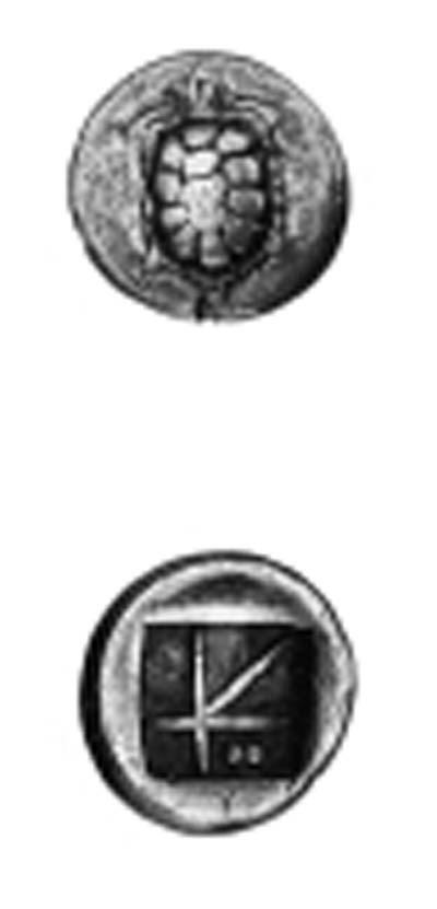 AEGINA (404-340 B.C.), DRACHM,