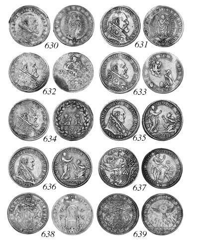 Innocent X (1644-55), Piastra,
