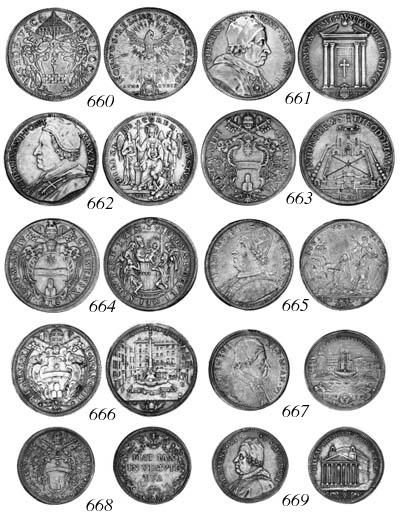 Clement XI, Half-piastra, Anno