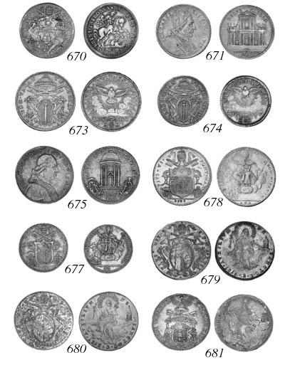 Clement XI, Half-piastra, 1704
