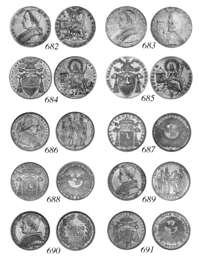 Pius VIII (1829-30), Scudo rom