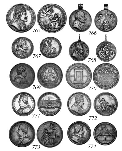 Clement XI, silver prize medal
