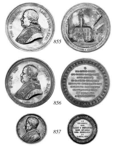 Pius IX, memorial 1878, by Gio