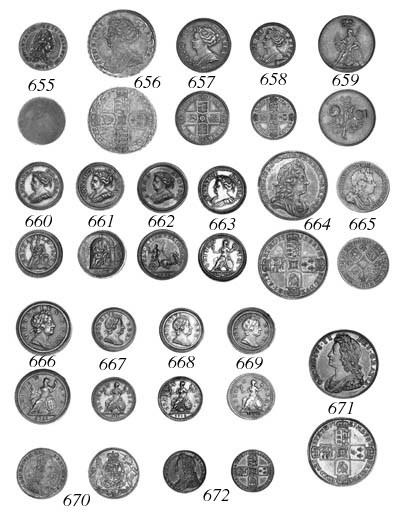 Anne, pattern Farthing, 1713,