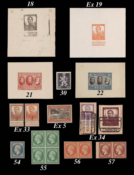 Proof  -- 80c. carmine, a lovely unused pair as before with 4mm. sheet margin at left; fine and very fresh. C.17AM, FF.19,000. Photo