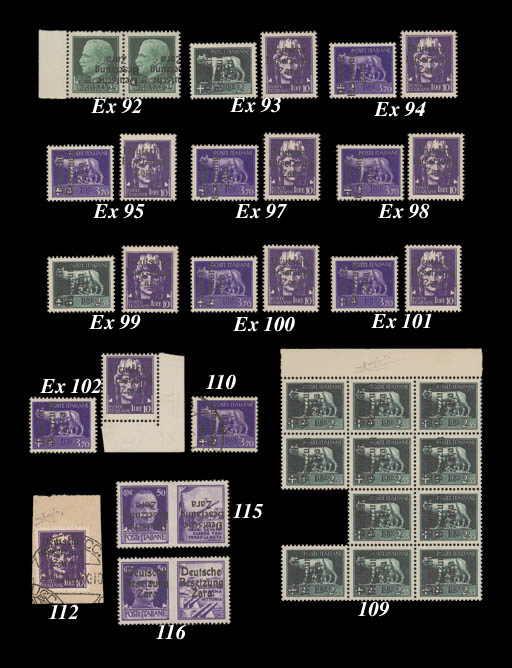 unused  50c. Artillery with Type IV overprint inverted; fine and fresh mint. Exceedingly rare - only three examples were so overprinted. Signed Alberto Diena and Raybaudi. M.20IIIK. Photo