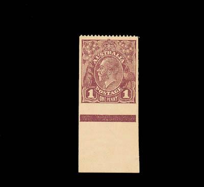 unused  1918-23 single wmk. 1d