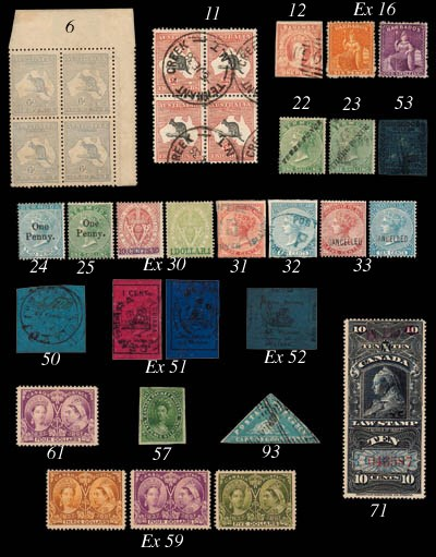used  1859 imperf., thin paper