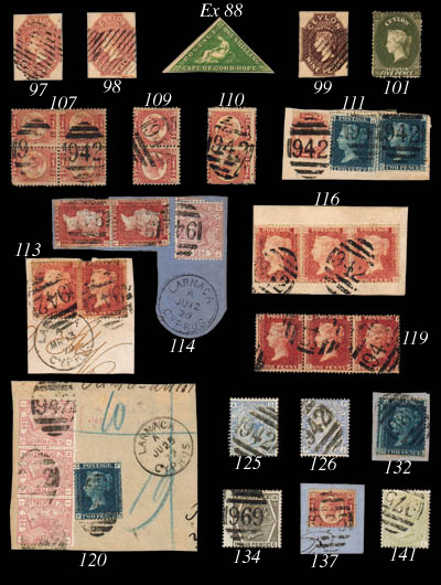 used  ½d. Plate 13, NL tied on
