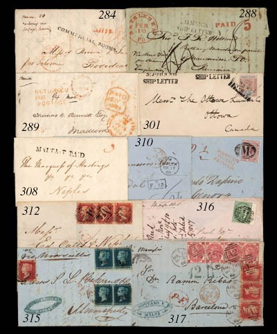 cover 1850 (9 Feb.) entire let