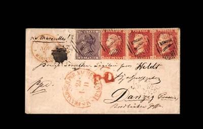 cover 1857 (14 Nov.) envelope
