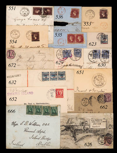cover 1890 (Aug.) 2½d. on 4d.