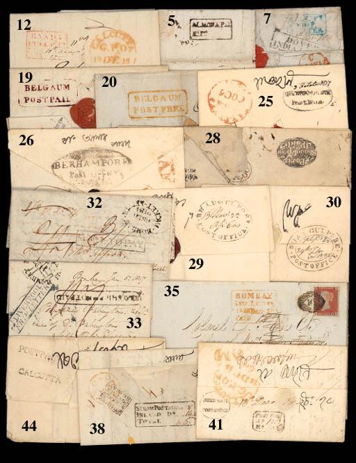 cover Berhampore: 1837 (3 Oct.