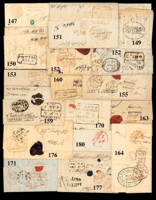 cover Merut: 1827 (12 Jan.) en