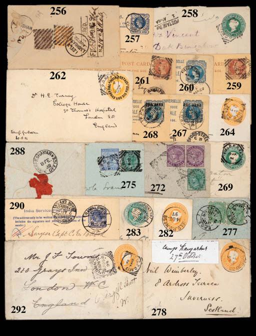 cover 1891 (16 Mar.) E. India