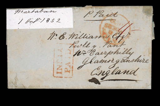 cover 1852 (1 Oct.) paid entir