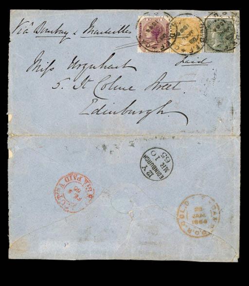 cover 1865 (28 Jan) envelope (