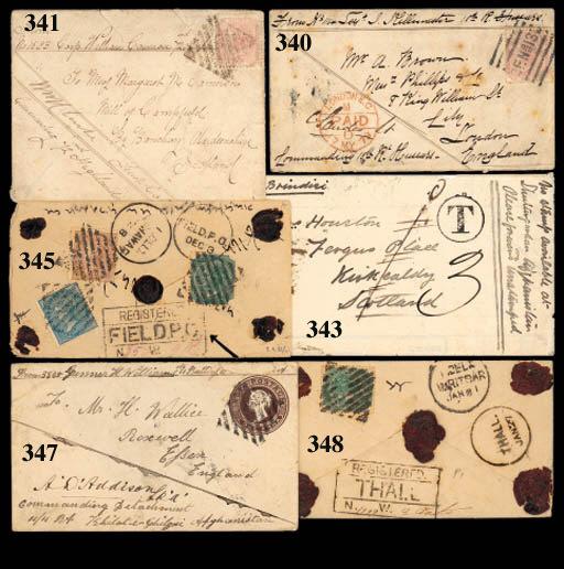 cover 1879 (3 Dec.) ½a. statio