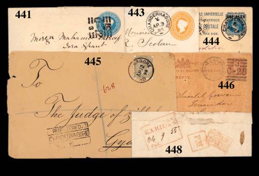 cover 1895 (3 Apr.) 2a.6p. sta