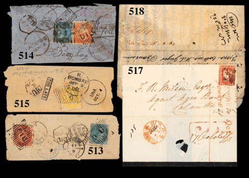 cover 1869 (15 May) ½a. blue l