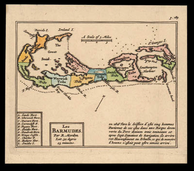 1700 (c.) map of the islands b