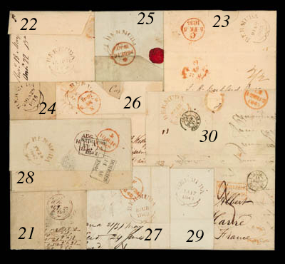 cover 1845 (18 Feb.) entire to