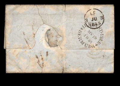 cover 1845 (13 May) entire let