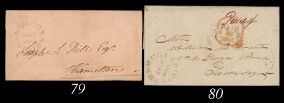 cover 1845 (19 July) entire le