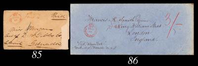 cover 1862 (13 Jan.) envelope