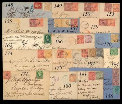 cover 1873 (13 Jan.) envelope