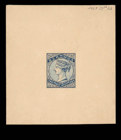 XU92½d. wholly handpainted ess