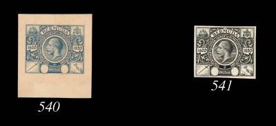 Proof  Master in black, stamp-