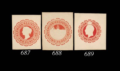 Proof  1903 2d. embossed stamp