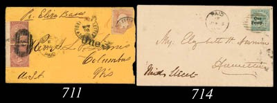 cover 1876 (4 Jan.) envelope,