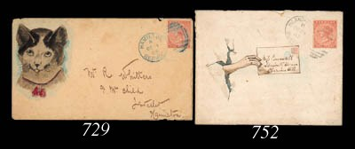 cover 1883 (28 Dec.) hand-illu