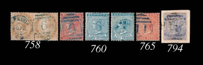 used  1883-98 1d. and 2d. each