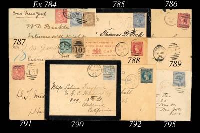 cover 1890 (1 Nov.) ½d. blue c