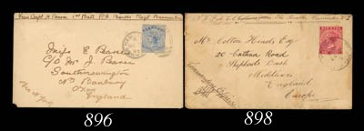 cover 1893 (1 Nov.) soldier's