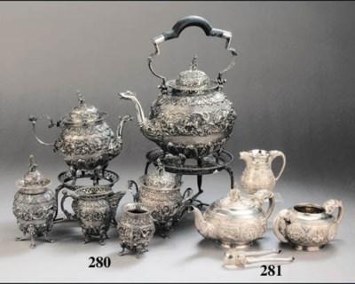A six-piece Dutch silver tea s