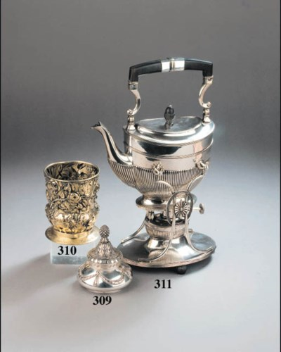 A Russian silver ink-pot
