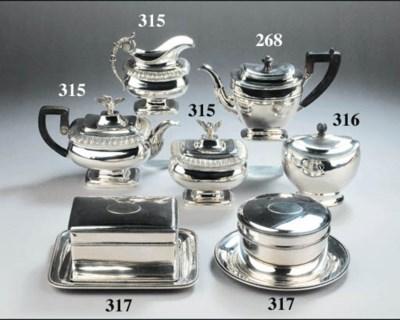 A Dutch silver three-piece tea
