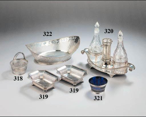 Three Dutch silver sweetmeat baskets