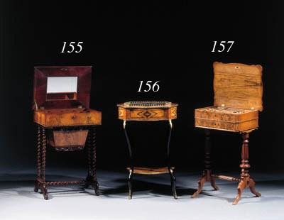 A Dutch mahogany work table