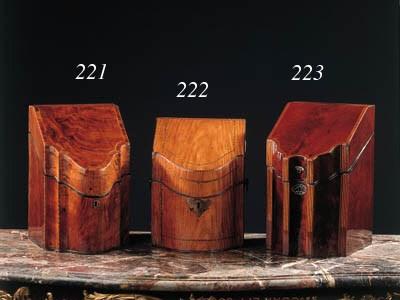 An English mahogany knife-box